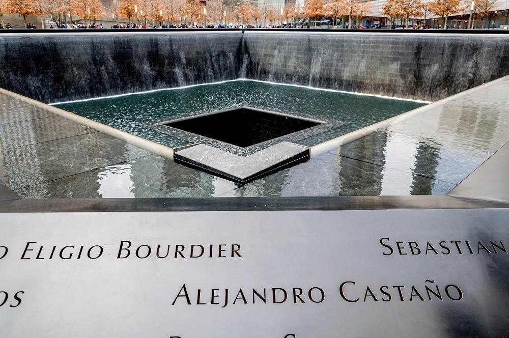 Fountain at September 11 Memorial in New York