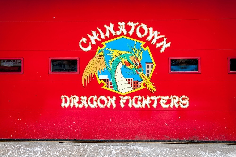 Chinatown Dragon Fighters fire station on a Walks of New York Lower East Side walking tour