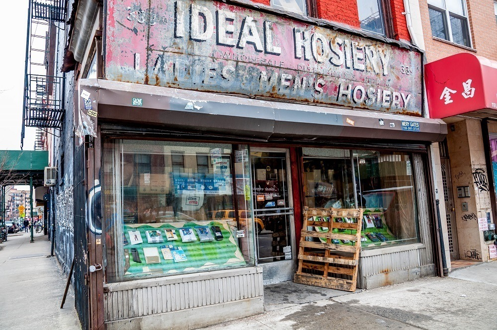 Ideal Hosiery is one of the many garment businesses on the Lower East Side