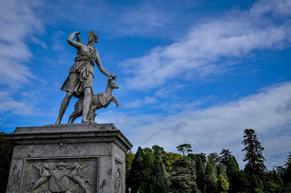 Statue in the Powerscourt Gardens outside of Dublin, Ireland