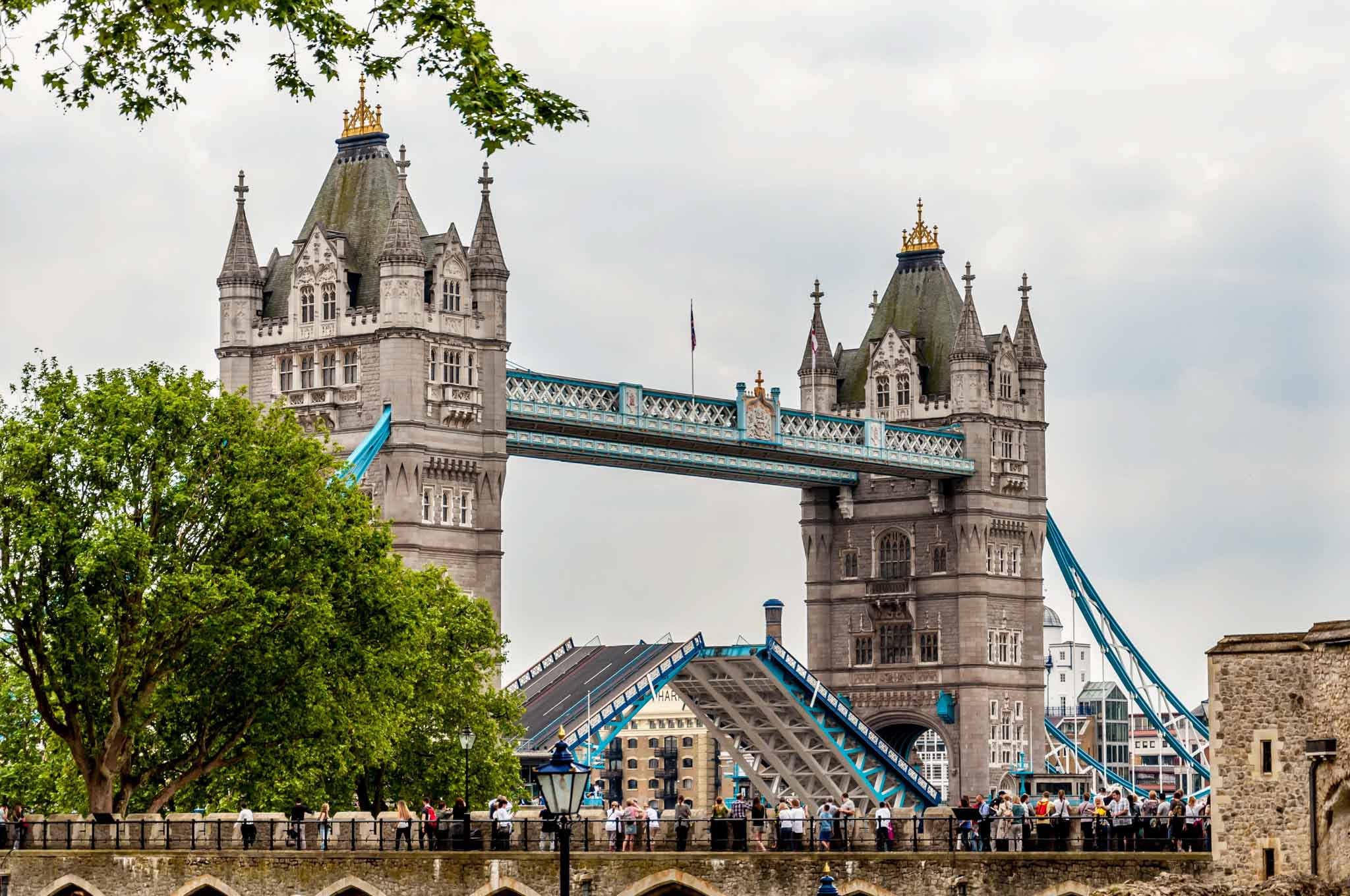 The Tower Bridge as viewed from the Tower of London - the final stop on your Heathrow Layover itinerary.
