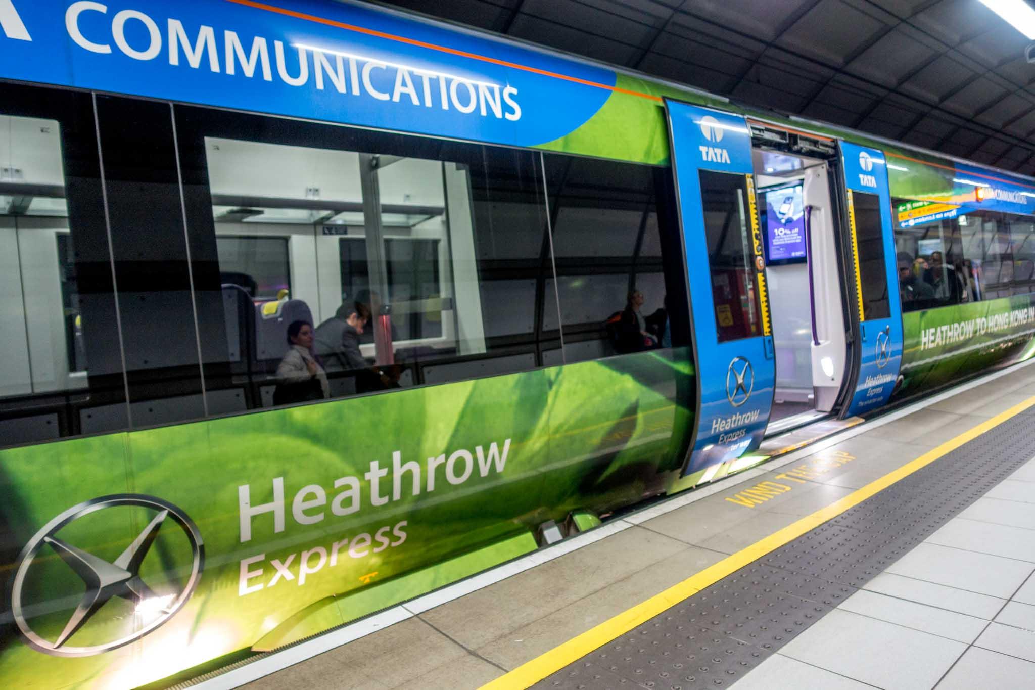 London Heathrow Express train cars
