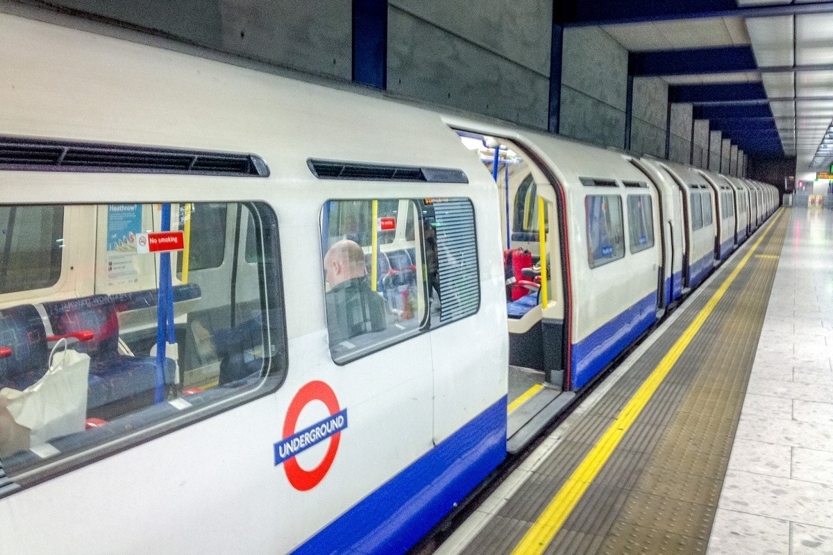 London Underground cars in a station