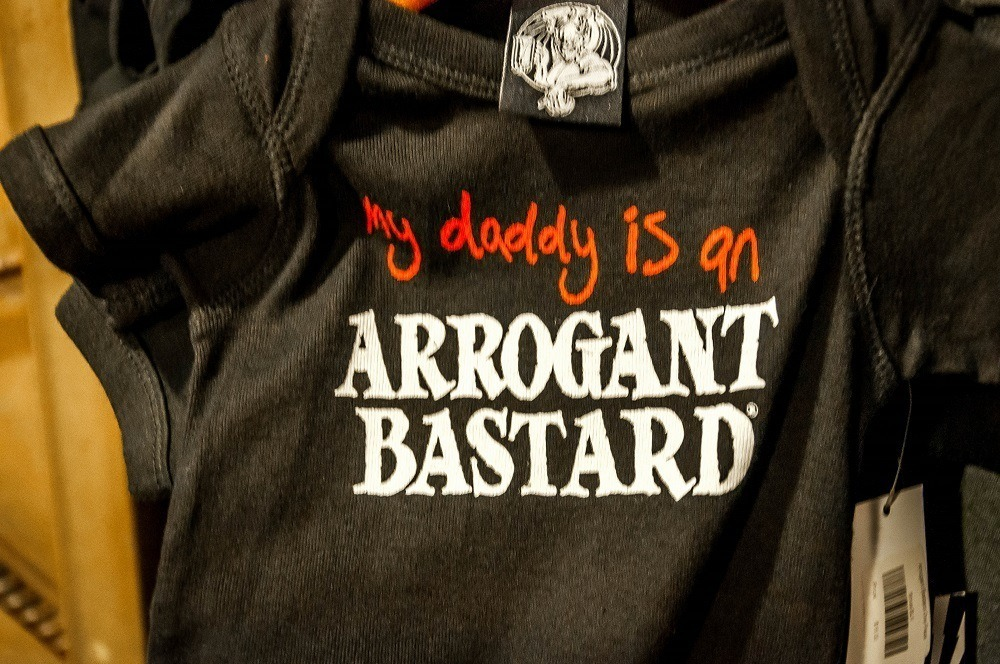 T-shirt saying My Daddy is an Arrogant Bastard at Stone Brewing Company