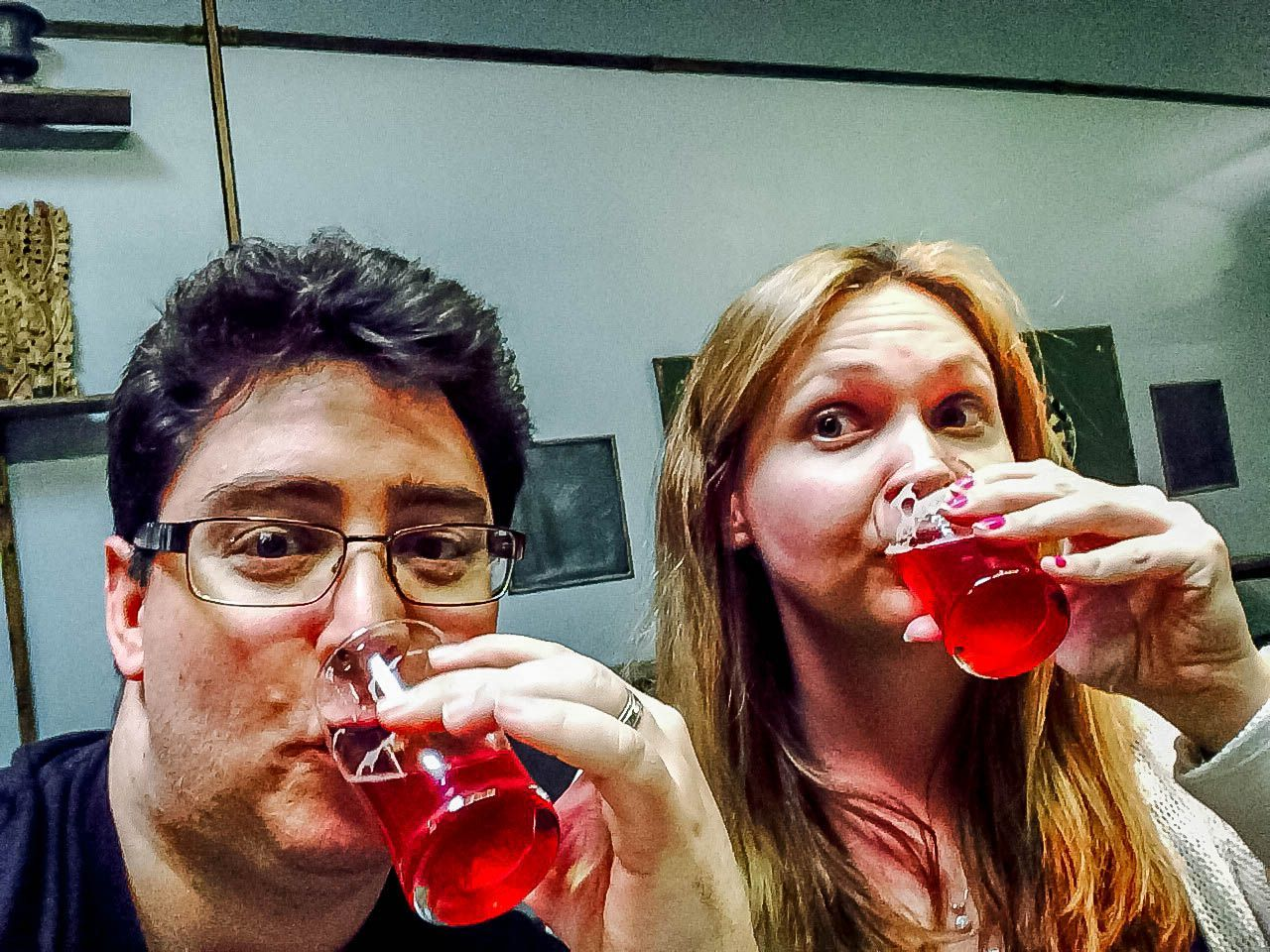 Beer selfie with my San Diego brewery tour guide