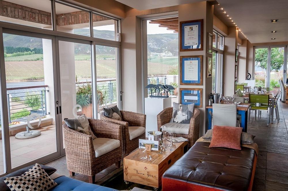 Inside the Tasting Room at the Creation Wines Hermanus restaurant and vineyard