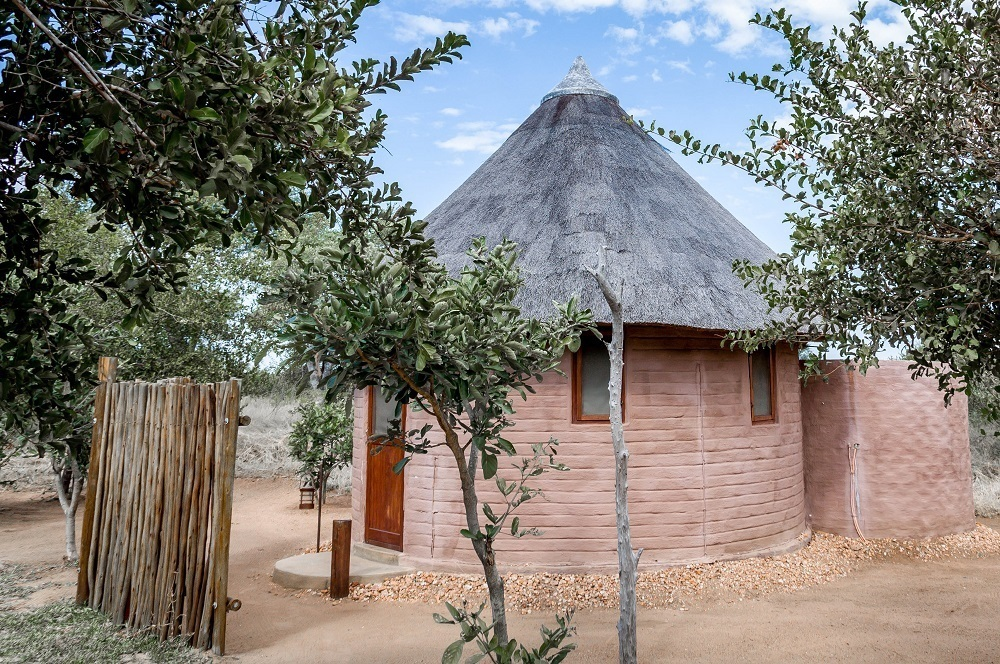 A traditional African rondavel hut