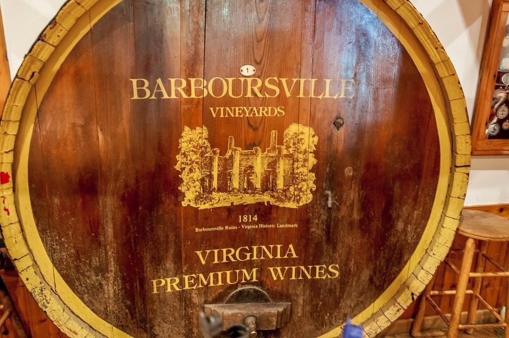 Cask at the Barboursville Vineyards
