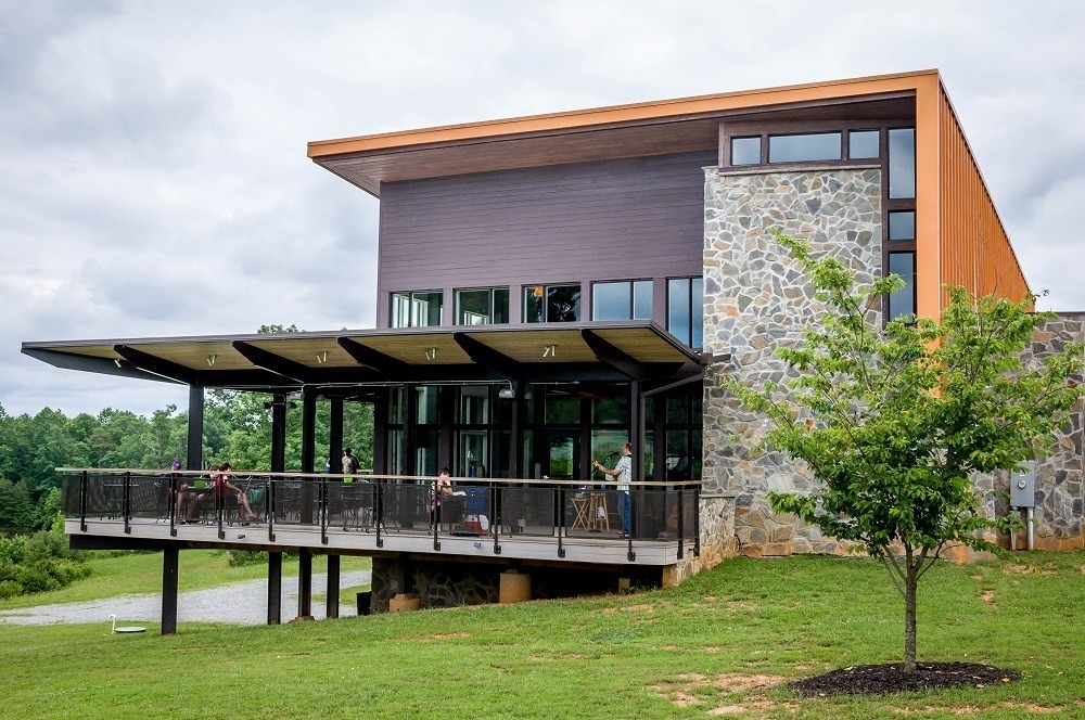 The LEED certified building at Cooper Vineyards on the Heart of Virginia Wine Trail