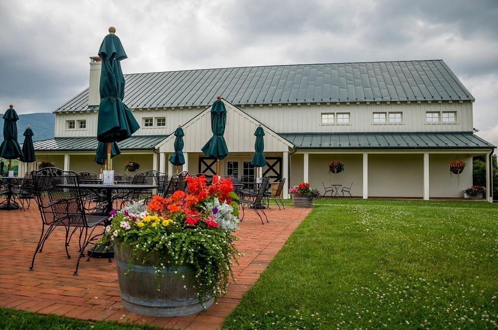 Patio at the King Family Vineyards near Charlottesville, Virginia
