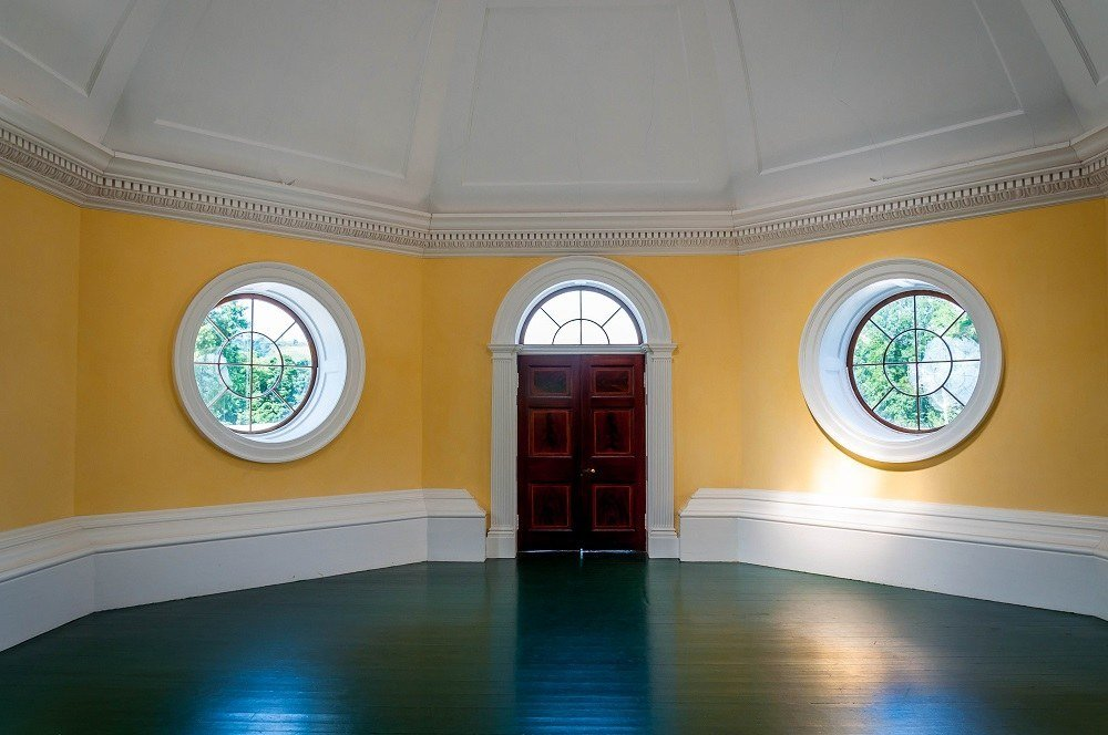 The yellow Dome Room on the Behind the Scenes Monticello Tour