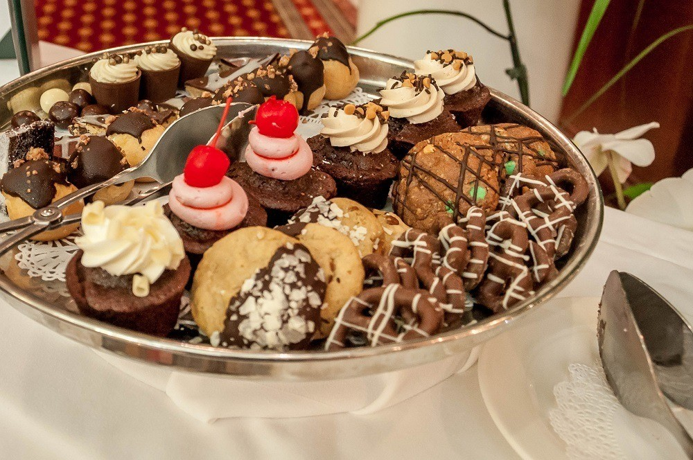 Chocolate delights during tea service