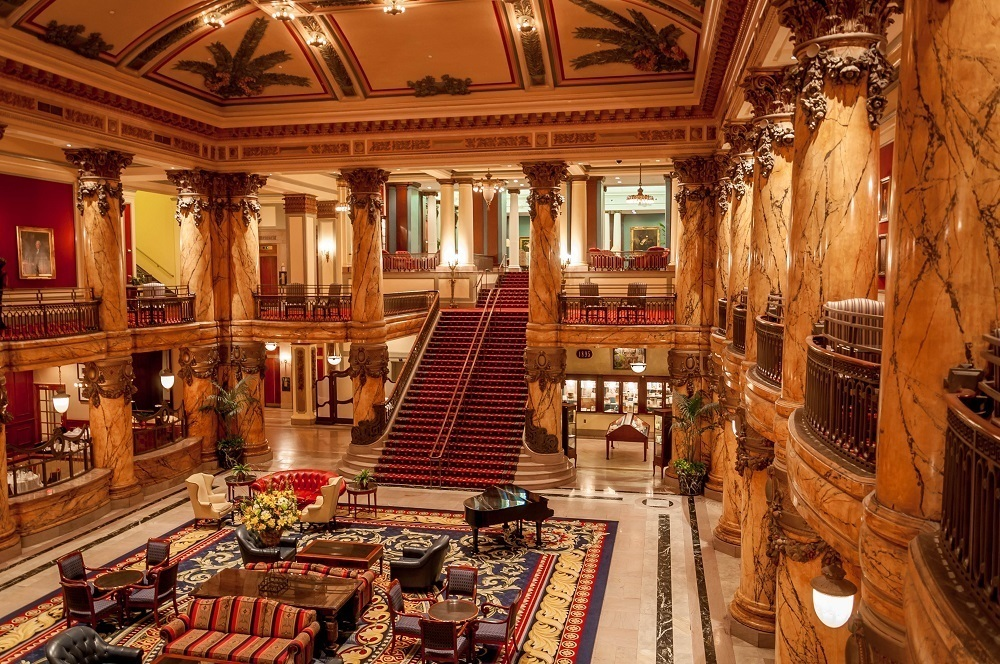 The Grand Staircase at The Jefferson Hotel in Richmond