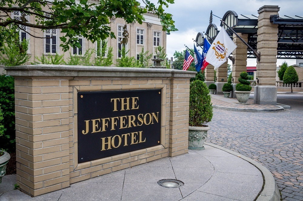 Sign for the Jefferson Hotel in Richmond, Virginia