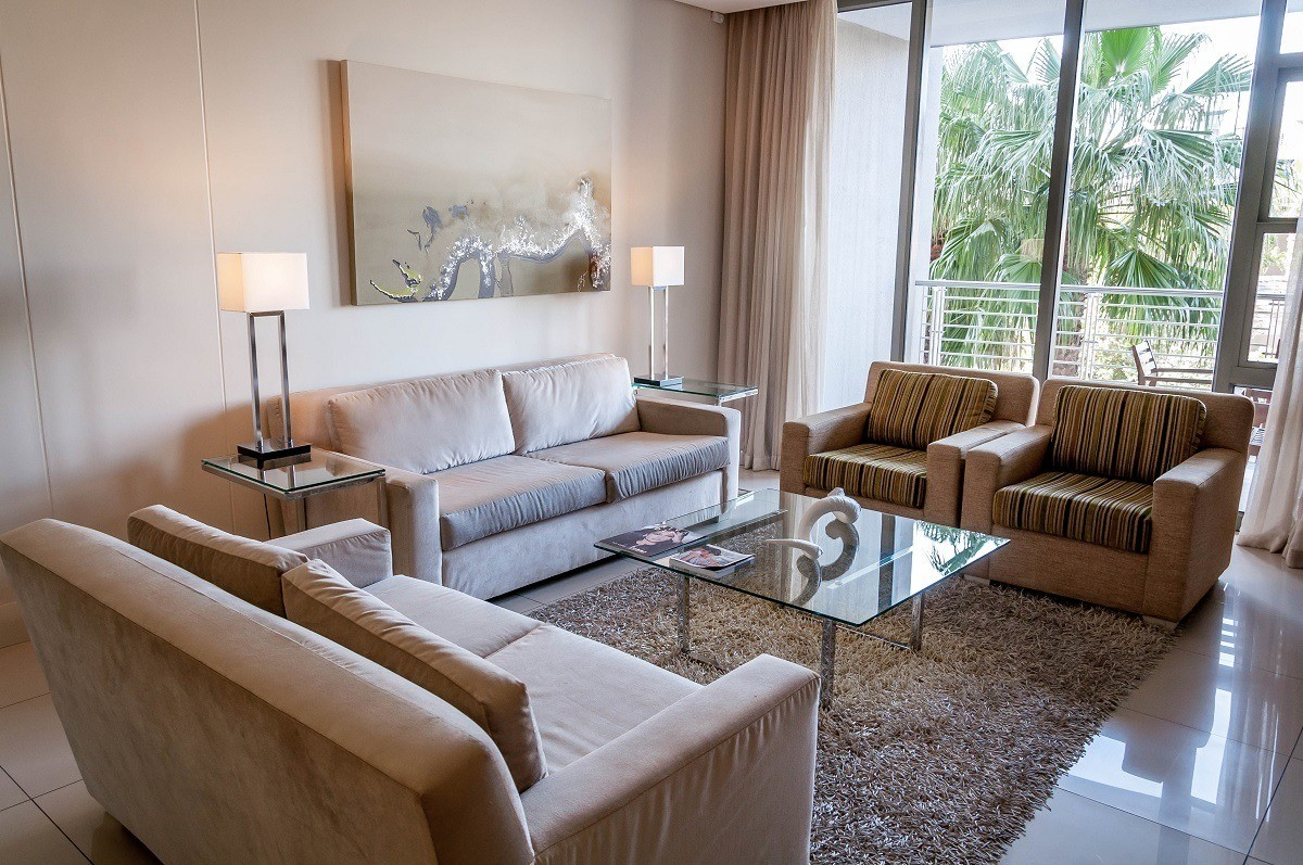 The living room at The Lawhill Luxury Apartments Cape Town