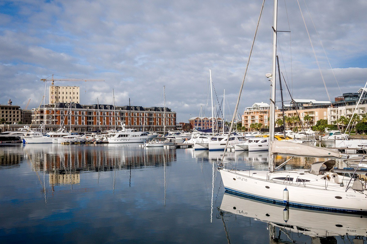 The V&A Waterfront Marina in Cape Town