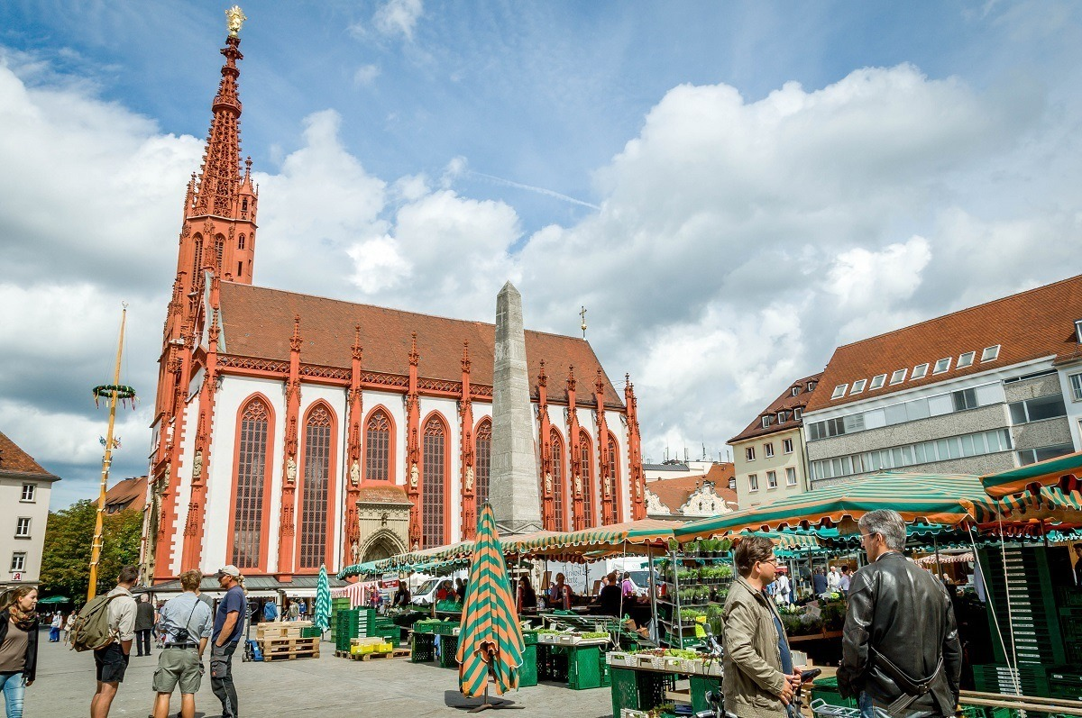 Wurzburg's Market Square and the Marienkapelle