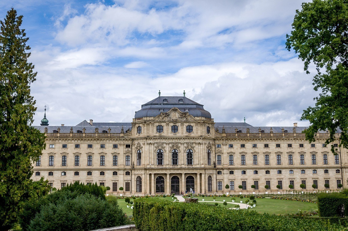 The Wurzburg Residenz Palace from the gardens