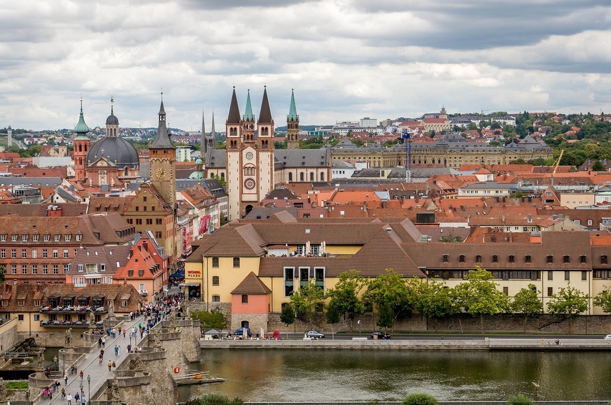 Views from the Marienberg Fortress of the old city