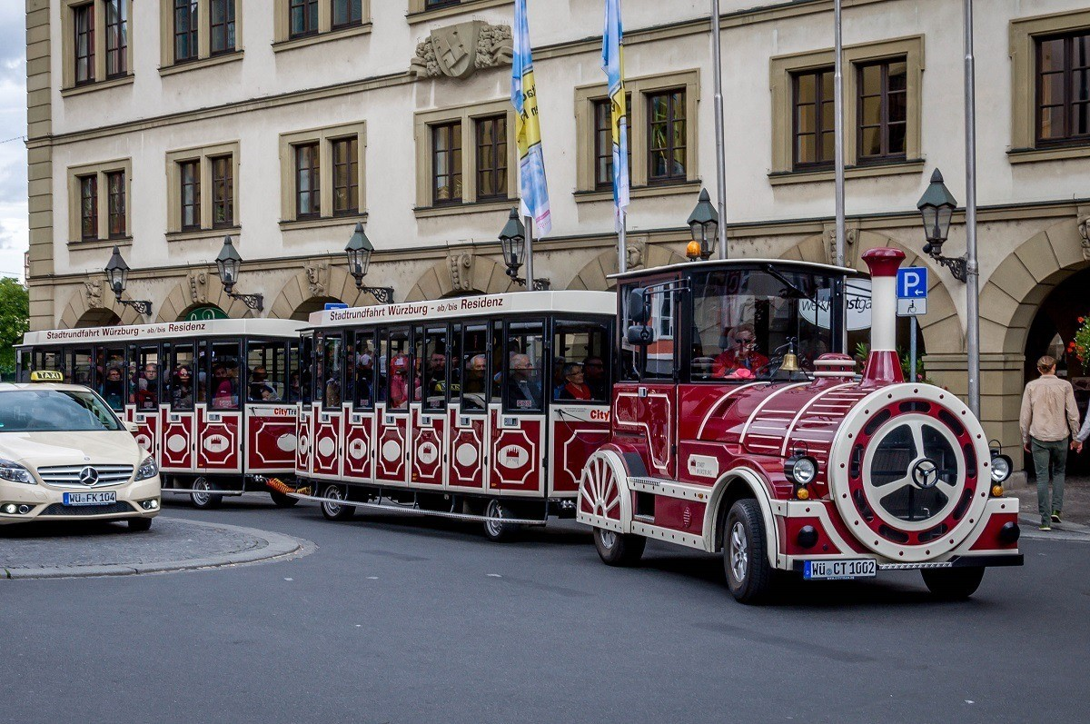 The tourist train operated by Wurzburg Tourism