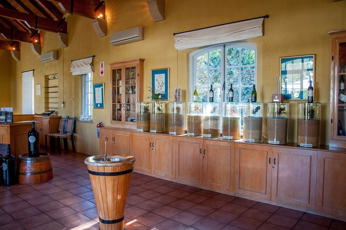 The tasting room at the Morgenhof Estate winery
