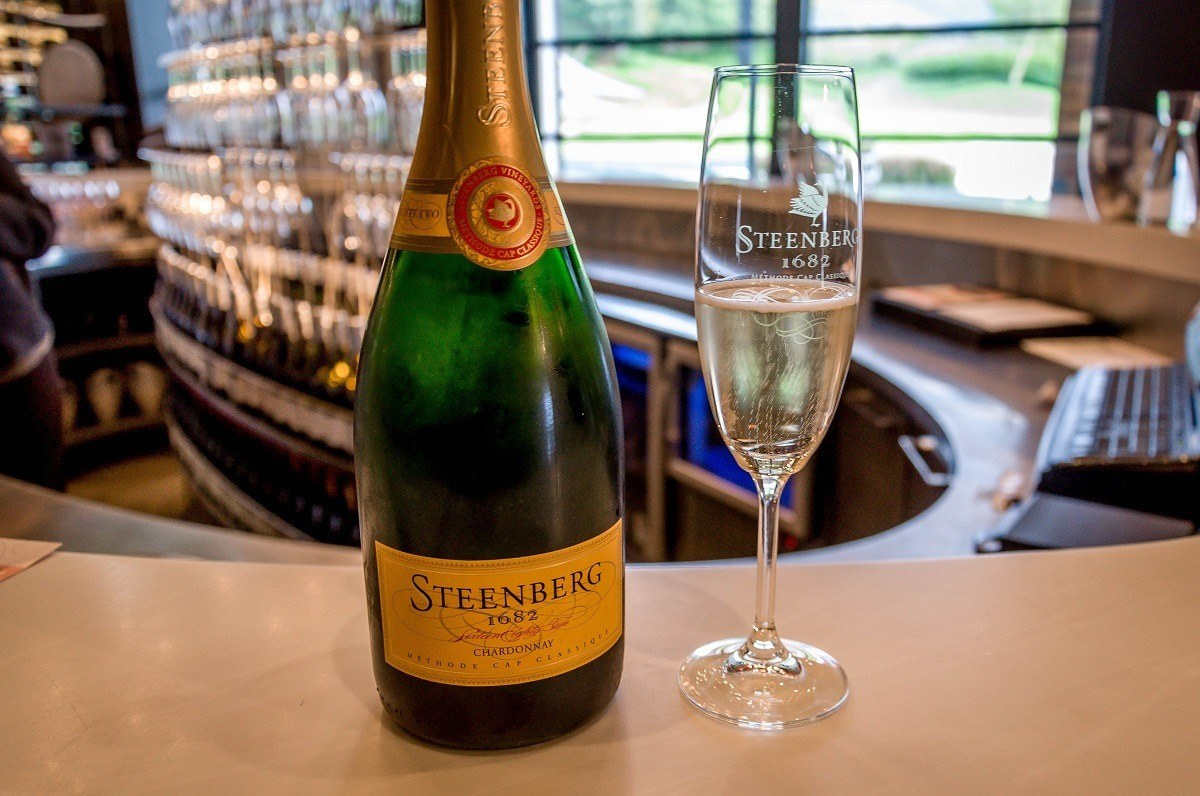 The Sparkling Chardonnay at Steenberg Vineyards in Constantia