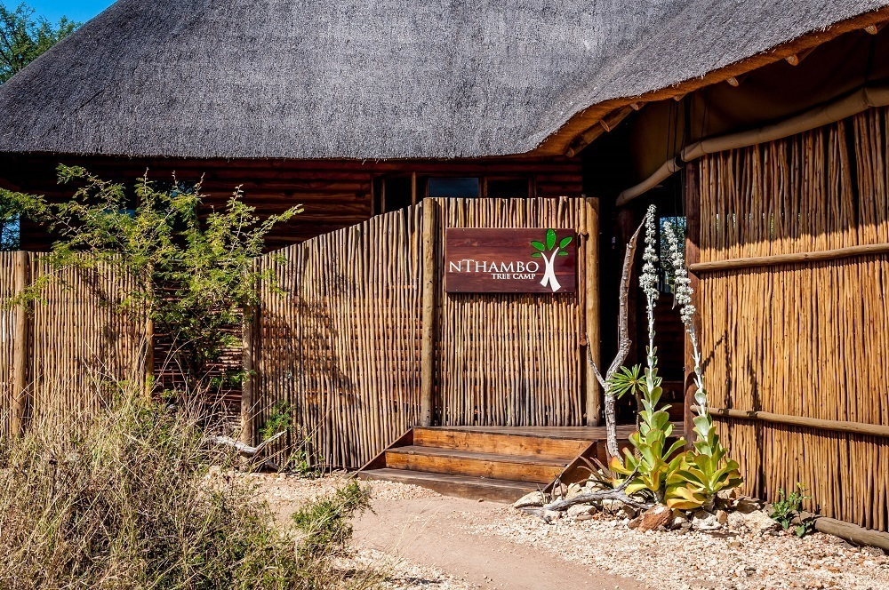 The welcome sign to  nThambo Tree Camp in the Klaserie Private Nature Reserve