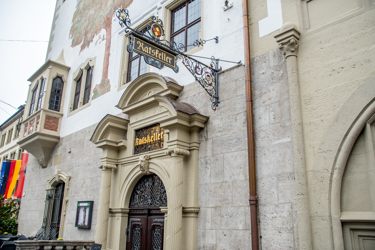 Entrance to the Wurzburg Ratskeller