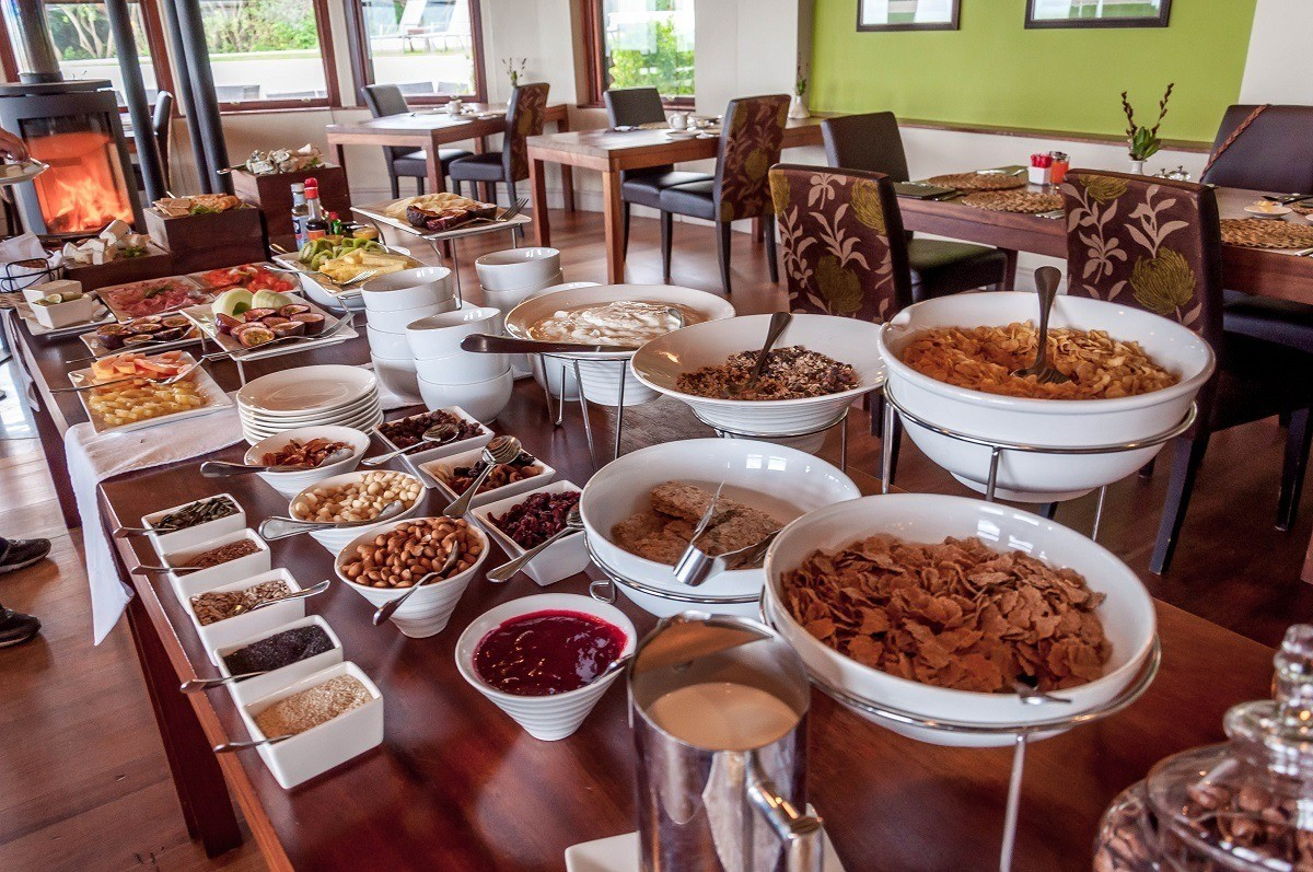 The breakfast buffet and muesli bar at the Garden Restaurant