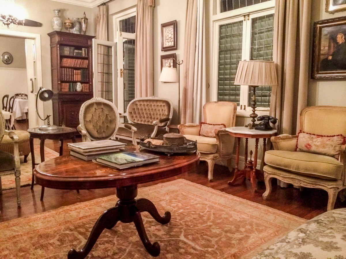 The sitting room at the Morrells Boutique Estate Hotel