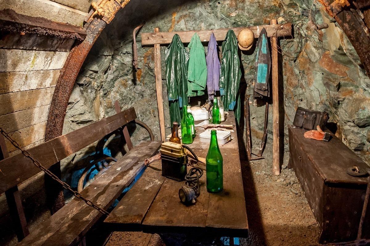 Break room inside the Slovak Mining Museum
