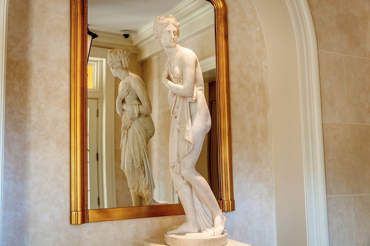 Statue in the lobby