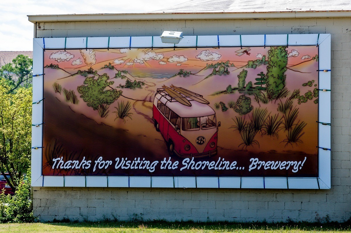 The Shorline Brewery sign