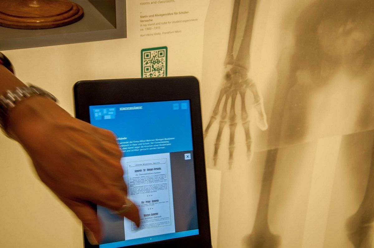 iPad tablets with information at the museum