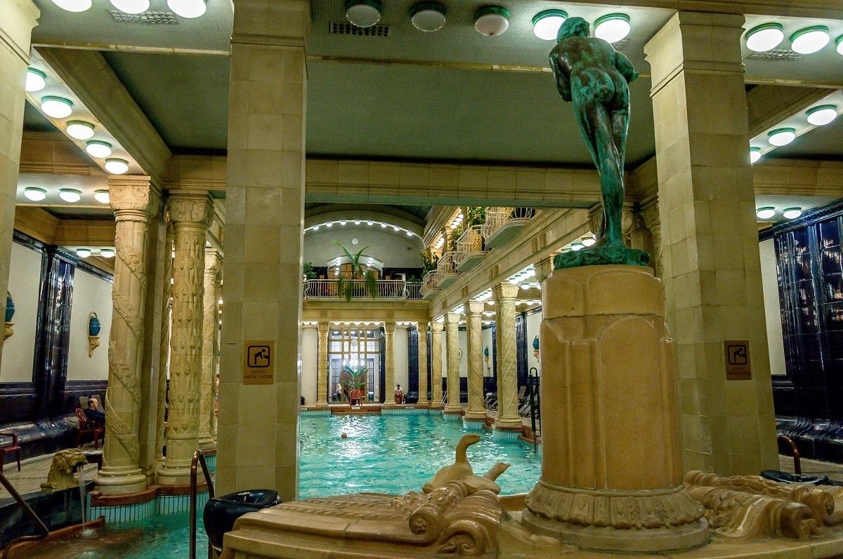 The indoor Gellert Baths in Budapest