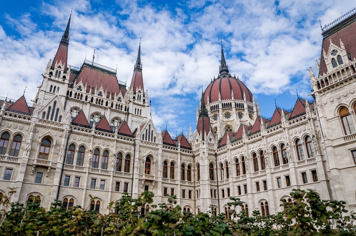 Seeing the Hungarian Parliament Building while visiting Budapest