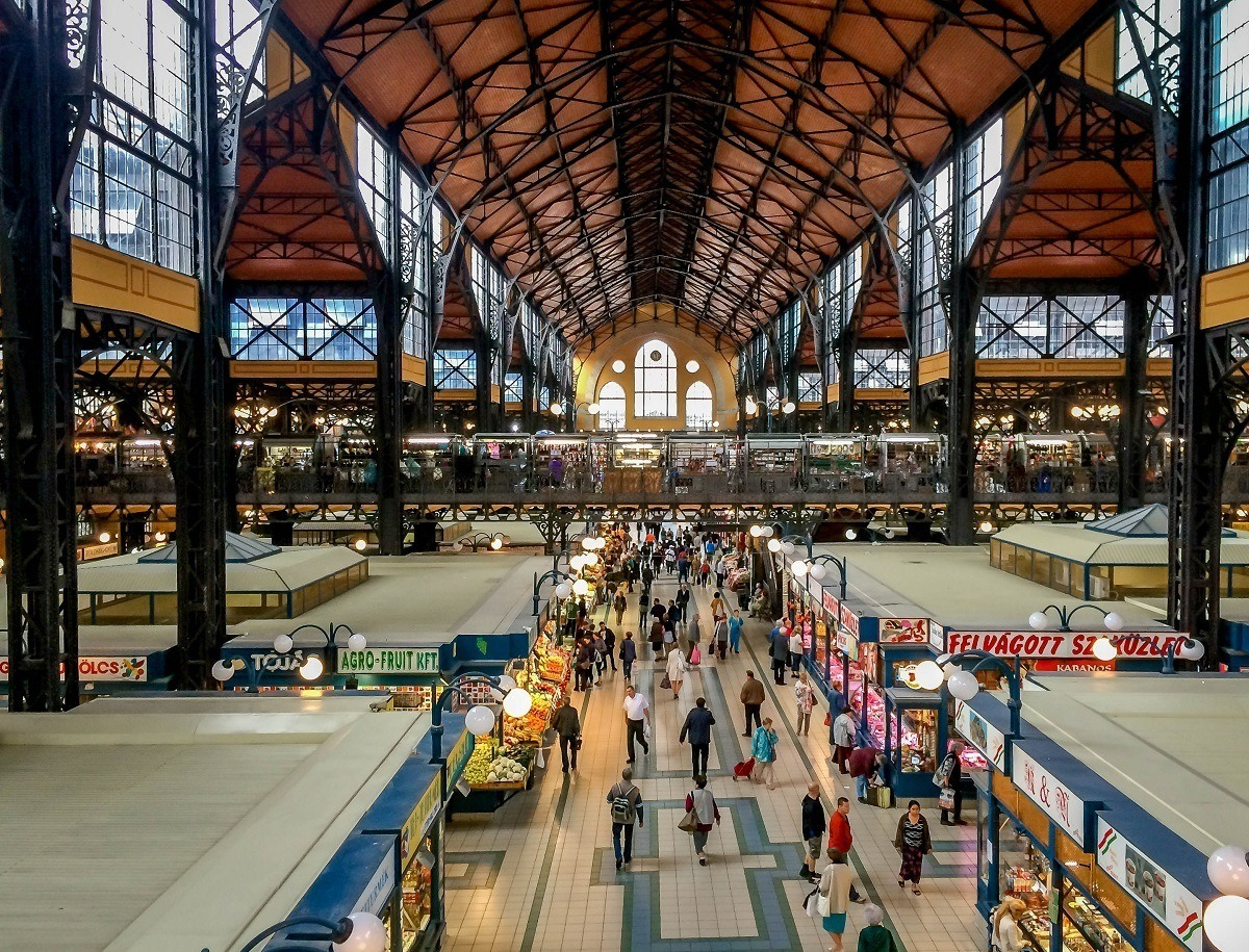 The main hall inside the city's grand Central Market