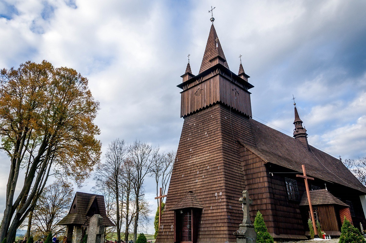 The wooden church of John the Baptist in Orawka, part of Lesser Poland