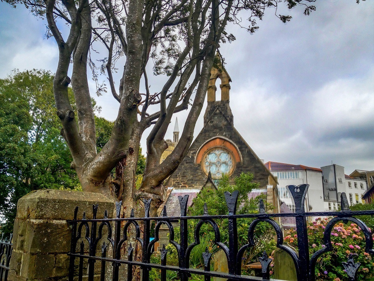 A church inside the walled city of Derry, Northern Ireland