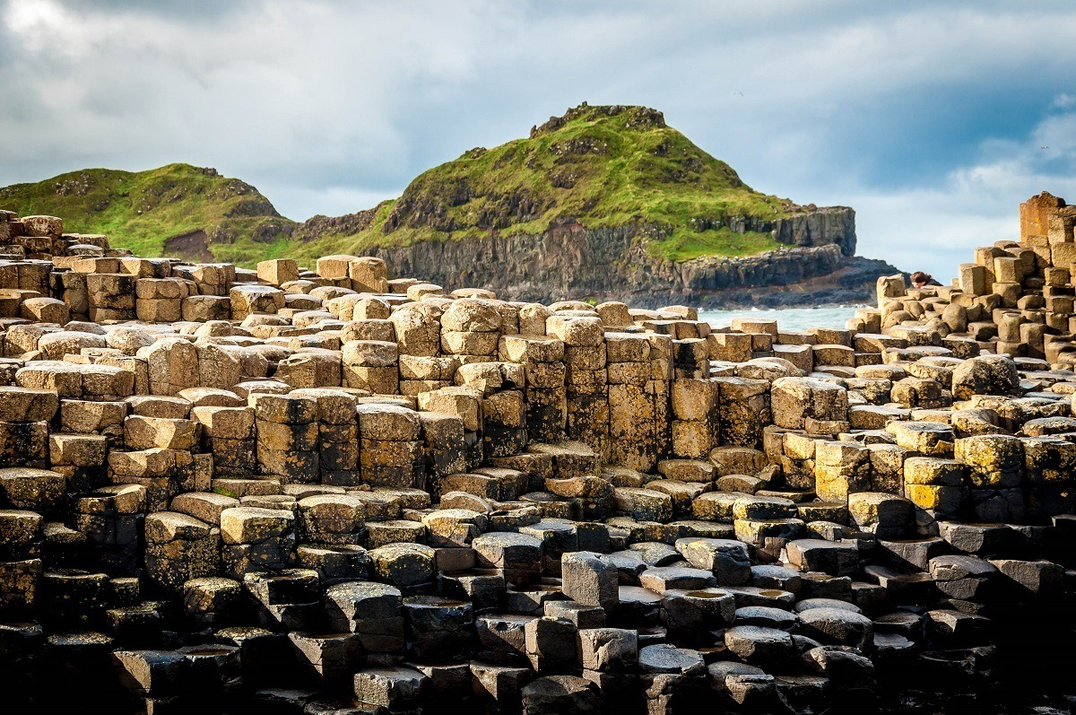 The Giant's Causeway on the Antrim Coast Road in Northern Ireland