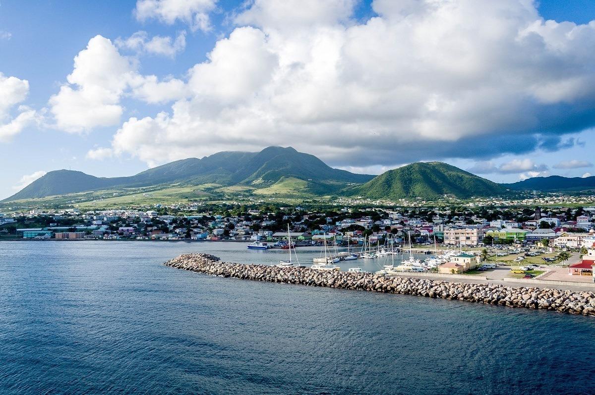 The port of Basseterre, St Kitts