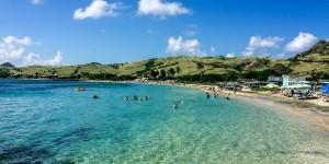 Cockelshell Beach in St. Kitts.