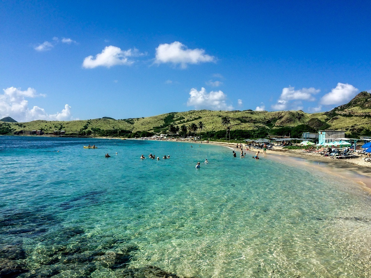 Cockleshell Beach in St. Kitts