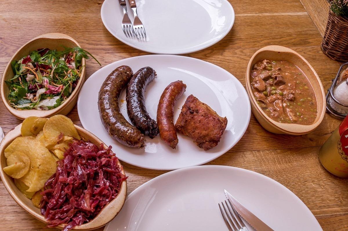 Lunch at Belvárosi-Disznótoros on a Budapest food tour