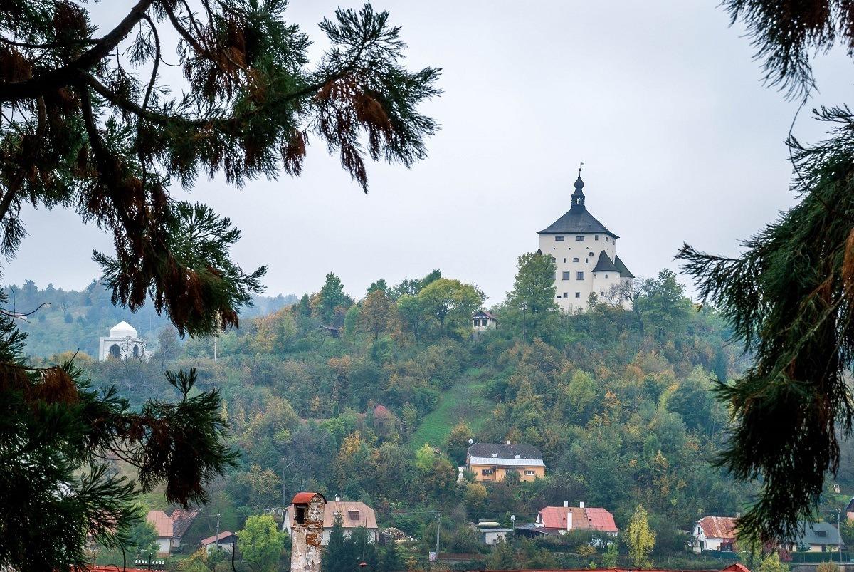 White castle on a hilltop