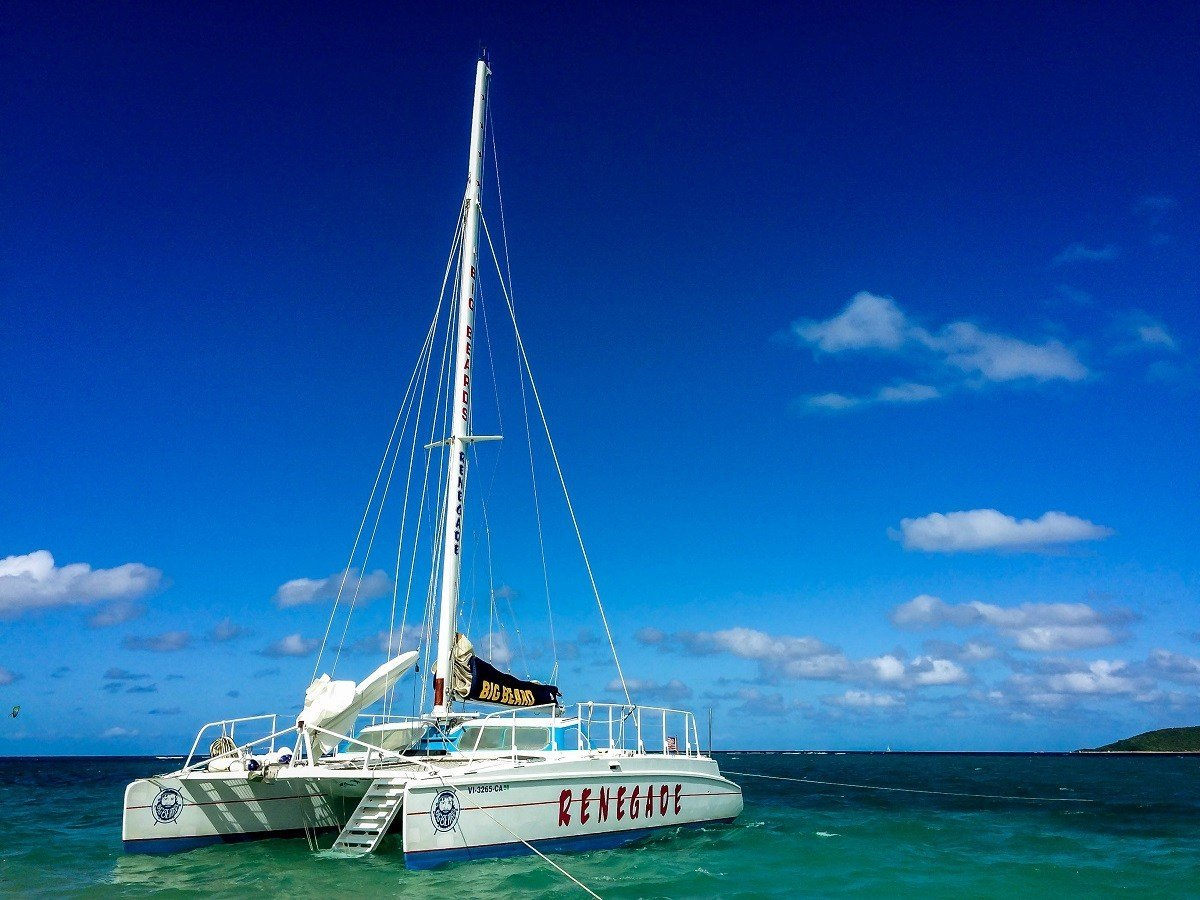 Big Beards snorkel boat at Buck Island St. Croix