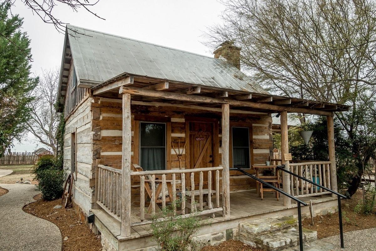 Llano cabin at the Cotton Gin Village in Fredericksburg, Texas