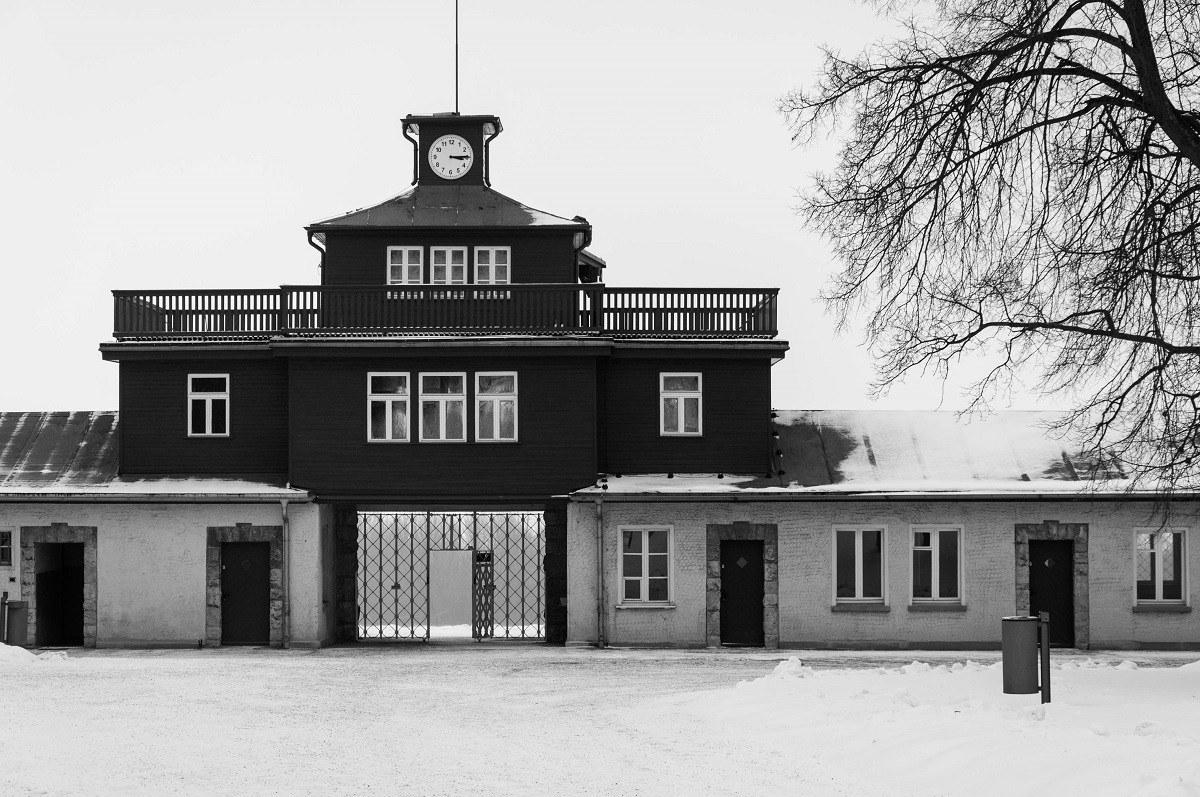 The main gate at Buchenwald