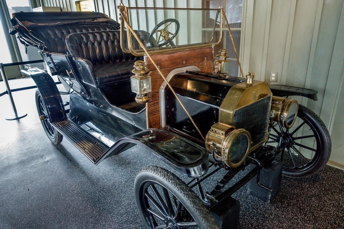 Black Model T car