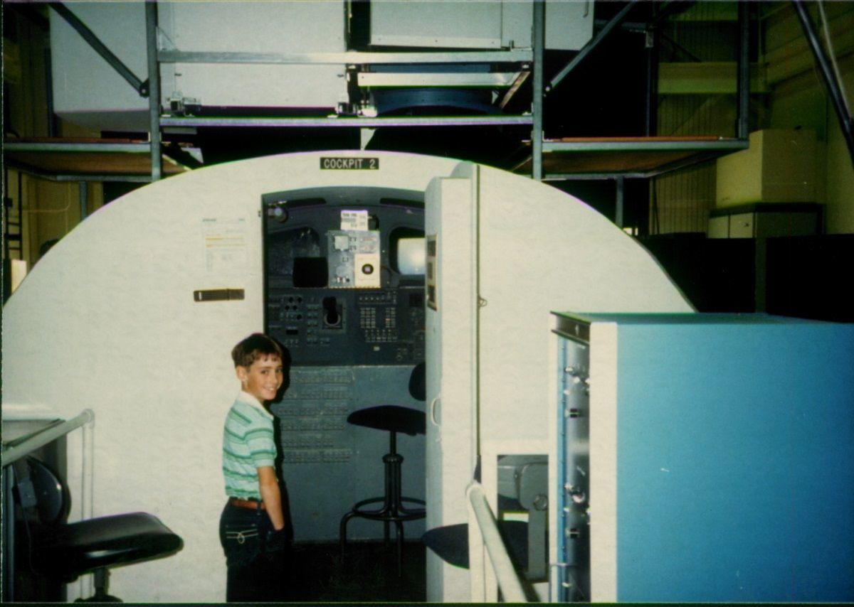 Lance at the NASA training facility in Houston (this is the Space Shuttle Simulator)